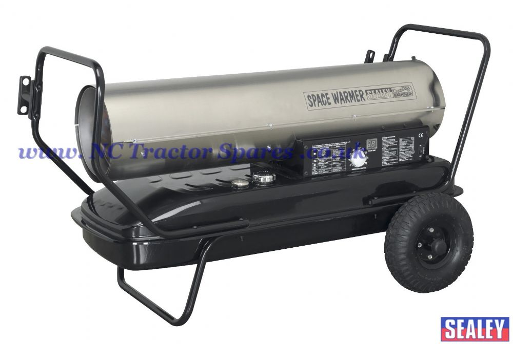 Space Warmer Paraffin, Kerosene & Diesel Heater 175,000Btu/hr with Wheels Stainless Steel
